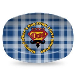 Hipster Dad Plastic Platter - Microwave & Oven Safe Composite Polymer (Personalized)