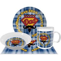 Hipster Dad Dinner Set - 4 Pc (Personalized)