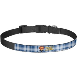 Hipster Dad Dog Collar - Large (Personalized)