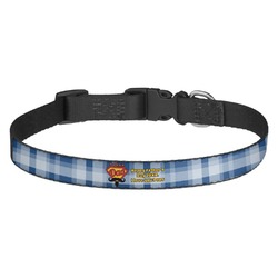 Hipster Dad Dog Collar - Medium (Personalized)