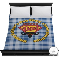 Hipster Dad Duvet Cover (Personalized)