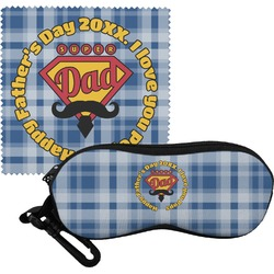 Hipster Dad Eyeglass Case & Cloth (Personalized)