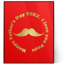 Hipster Dad 8x10 Foil Wall Art - Red (Personalized)