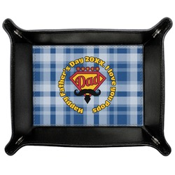 Hipster Dad Genuine Leather Valet Tray (Personalized)