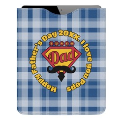 Hipster Dad Genuine Leather iPad Sleeve (Personalized)