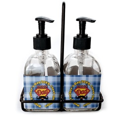 Hipster Dad Soap & Lotion Dispenser Set (Glass) (Personalized)