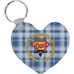 Hipster Dad Heart Keychain (Personalized)