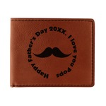 Hipster Dad Leatherette Bifold Wallet (Personalized)