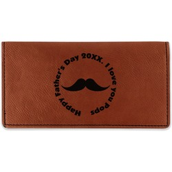 Hipster Dad Leatherette Checkbook Holder - Double Sided (Personalized)