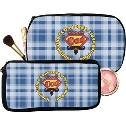 Hipster Dad Makeup / Cosmetic Bag (Personalized)