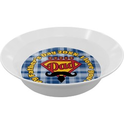 Hipster Dad Melamine Bowl (Personalized)