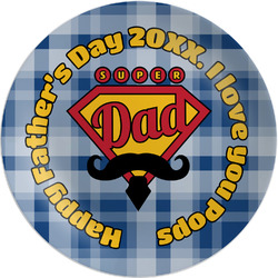 """Hipster Dad Melamine Plate - 8"""" (Personalized)"""