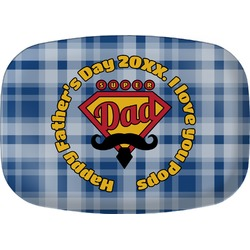 Hipster Dad Melamine Platter (Personalized)