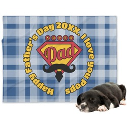 Hipster Dad Dog Blanket (Personalized)