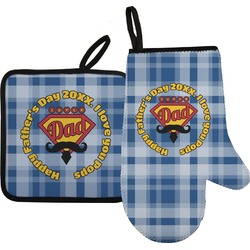 Hipster Dad Oven Mitt & Pot Holder (Personalized)