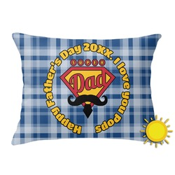 Hipster Dad Outdoor Throw Pillow (Rectangular) (Personalized)