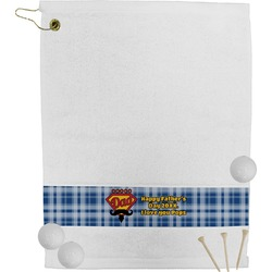 Hipster Dad Golf Towel (Personalized)