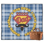 Hipster Dad Outdoor Picnic Blanket (Personalized)