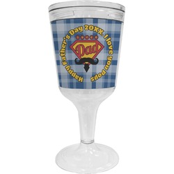 Hipster Dad Wine Tumbler - 11 oz Plastic (Personalized)