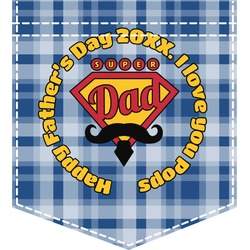 Hipster Dad Iron On Faux Pocket (Personalized)