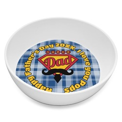 Hipster Dad Melamine Bowl 8oz (Personalized)