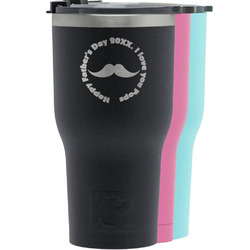Hipster Dad RTIC Tumbler - Black (Personalized)