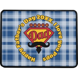 Hipster Dad Rectangular Trailer Hitch Cover (Personalized)