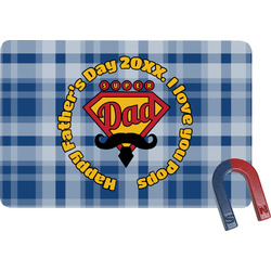 Hipster Dad Rectangular Fridge Magnet (Personalized)