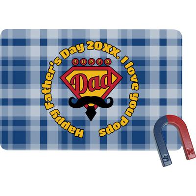 Hipster Dad Rectangular Fridge Magnet (Personalized)