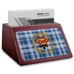 Hipster Dad Red Mahogany Business Card Holder (Personalized)