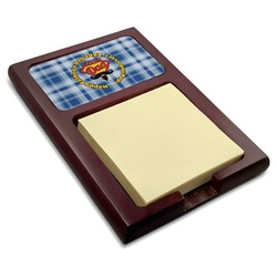 Hipster Dad Red Mahogany Sticky Note Holder (Personalized)