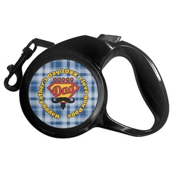 Hipster Dad Retractable Dog Leash - Multiple Sizes (Personalized)