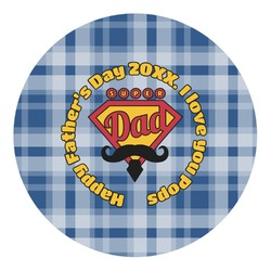 Hipster Dad Round Decal - Small (Personalized)
