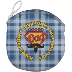 Hipster Dad Round Coin Purse (Personalized)