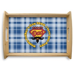 Hipster Dad Natural Wooden Tray (Personalized)