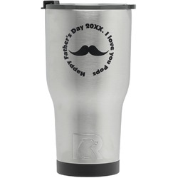 Hipster Dad RTIC Tumbler - Silver (Personalized)