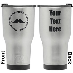 Hipster Dad RTIC Tumbler - Silver - Engraved Front & Back (Personalized)