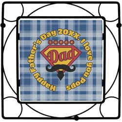 Hipster Dad Square Trivet (Personalized)