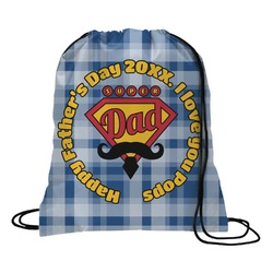 Hipster Dad Drawstring Backpack (Personalized)