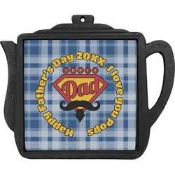 Hipster Dad Teapot Trivet (Personalized)