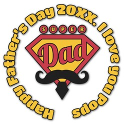 Hipster Dad Graphic Decal - Custom Sized (Personalized)