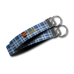 Hipster Dad Wristlet Webbing Keychain Fob (Personalized)