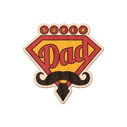 Hipster Dad Genuine Wood Sticker (Personalized)