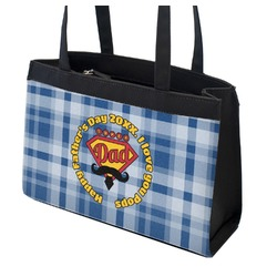 Hipster Dad Zippered Everyday Tote (Personalized)