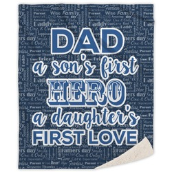 My Father My Hero Sherpa Throw Blanket (Personalized)