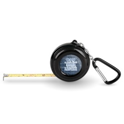 My Father My Hero Pocket Tape Measure - 6 Ft w/ Carabiner Clip (Personalized)