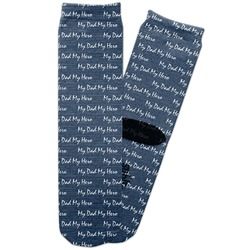 My Father My Hero Adult Crew Socks (Personalized)