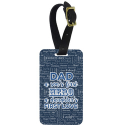 My Father My Hero Aluminum Luggage Tag (Personalized)