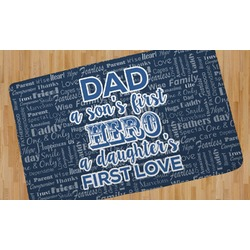 My Father My Hero Area Rug (Personalized)