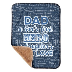 "My Father My Hero Sherpa Baby Blanket 30"" x 40"" (Personalized)"